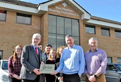 West Highland receiving Investors in People accreditations