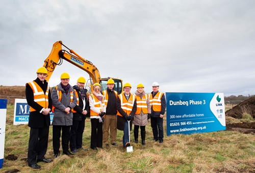 Dunbeg sod cutting event