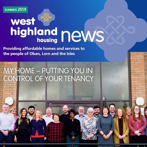 Front cover of the summer 2019 edition of West Highland News