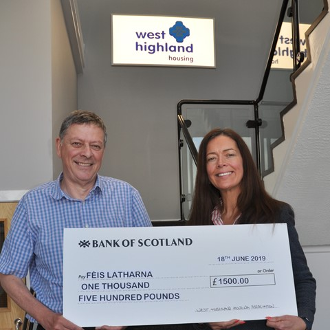 West Highland donation is music to the ears of local young people